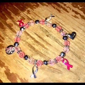 Avon pink ribbon stretchy bracelet